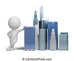 3d kleine Menschen - Wolkenkratzer