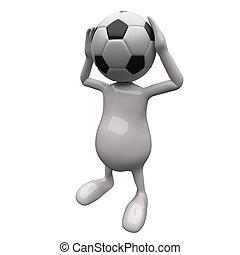 3D Leute, Football-Kopf