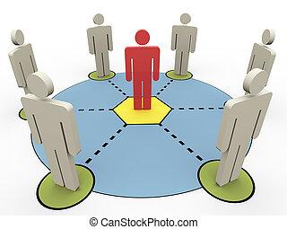 3D Leute kommunizieren