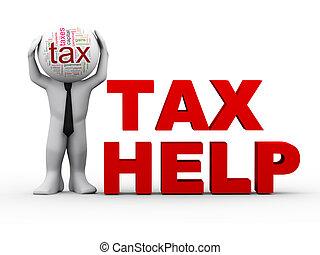 3d Mann Steuerhilfe