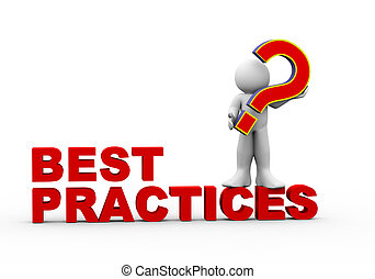 3D-Mann und Best Practice