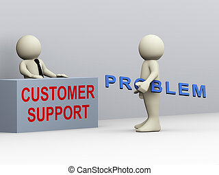 3d Mann und Kundenservice