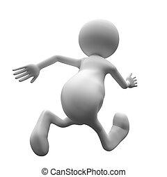 3D Menschen rennen