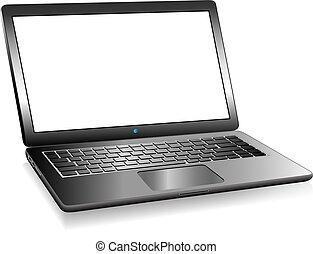 3D PC Laptop Computer mit Platz für Ihre Nachricht.