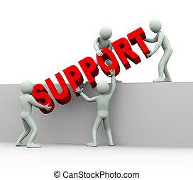 3d people - Konzept der Hilfe und Unterstützung