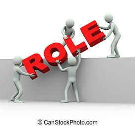 3d people - Konzept der Rolle