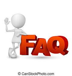 3d person and word FAQ ( häufig gestellte Fragen)