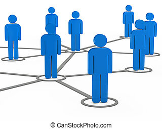 3d, sozial, vernetzung, mannschaft