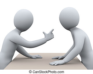 3D streiten und streiten