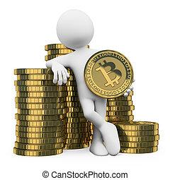 3D-Weiße. Bitcoin