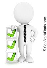 3d Weiße Checkliste
