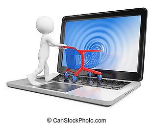 3D-Weiße. E-Commerce