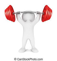 3D Weiße Gewichtheber