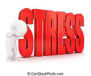 3d Weiße Stress