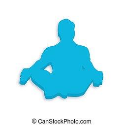 3D Yoga-Mann.