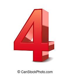 3fache rote Nummer 4.