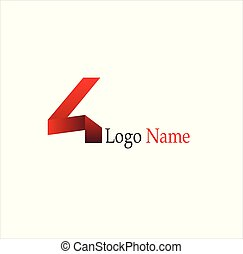 4, kreativ, schablone, vektor, designs.