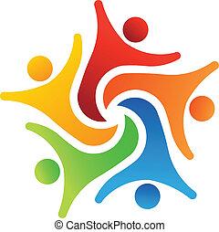 6, erfolg, mannschaft, logo