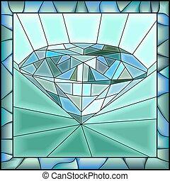 abbildung, diamond., mosaik