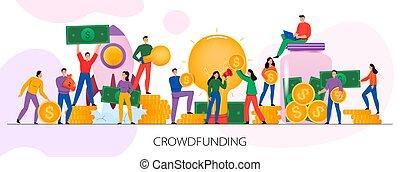 abbildung, horizontal, crowdfunding