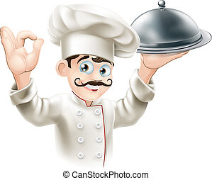 abbildung, küchenchef, feinschmecker