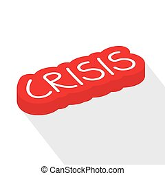 abbildung, vektor, concept-, welt, krise