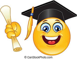 Abschluss-Emoticon