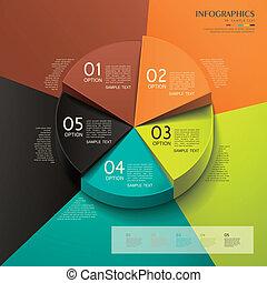 Abstract 3d Kuchendiagramm Infographics.
