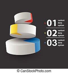 Abstract 3D Kuchendiagramm Infographics