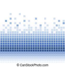 Abstract aqua square pixel mosaic.