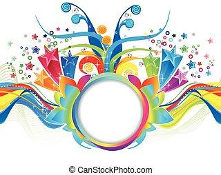 Abstract colorful künstlerische explodieren.eps