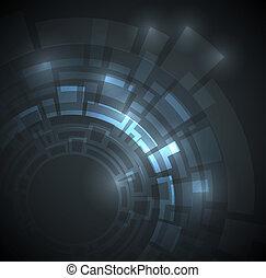 Abstract Dark Blue technischer Hintergrund.