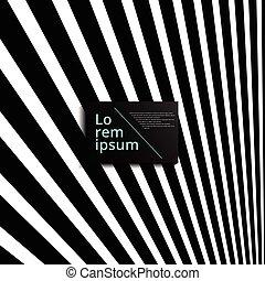 Abstract diagonale Linien minimal Muster mit schwarzen Streifen Perspektive Hintergrund, Vektor.
