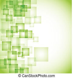 Abstract Green Square Hintergrund.