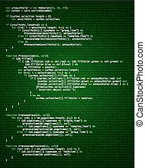 Abstract Hintergrund mit Programmcode.
