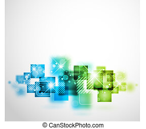 Abstract Hintergrund mit quadratischen Formen.