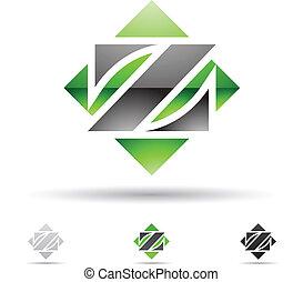 Abstract Icon für Buchstabe Z.