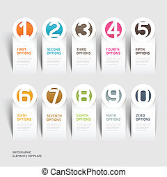 Abstract Infographics Nummer Option