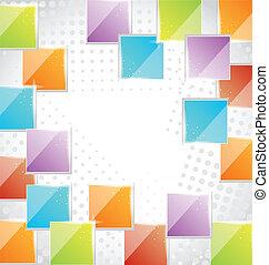 Abstract kreativen Hintergrund mit Quadraten.