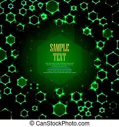 Abstract Molekül DNA Hintergrund.