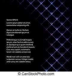 Abstract Neonlicht schwarz Rückrunde Vektorgrafik.