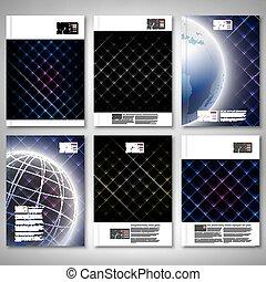 Abstract Neonlicht schwarz Texturen. Brochure, Flyer oder Bericht für Geschäft, Vorlagenvektor