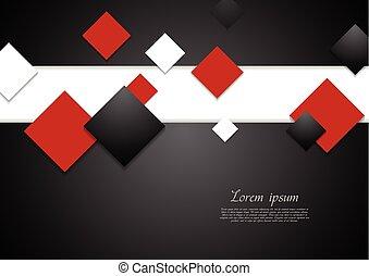 Abstract Tech Hintergrund mit Quadraten