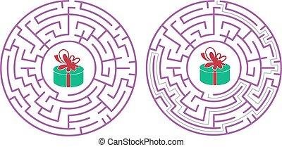 abstrakt, design, labyrinth, maze., weißes, abbildung, vektor