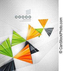 abstrakt, geometrisch, dreieck gestalt, hintergrund