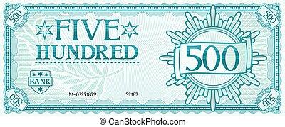 abstrakt, hundert, fünf, banknote