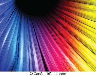 Abstrakte farbenfrohe Wellen im schwarzen Hintergrund