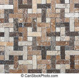 Abstrakte Geometrie, natürliche Marmor-Dekorative Textur mosaische Fliesen.
