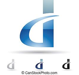 Abstrakte Ikone für Buchstaben D
