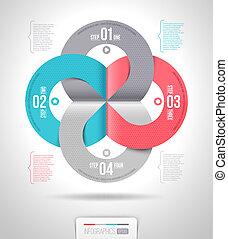 Abstrakte Infografisches Muster